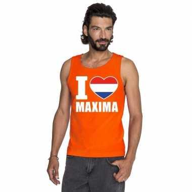 I love maxima singlet oranje heren
