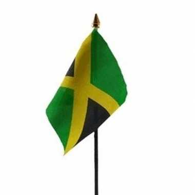 Jamaica luxe zwaaivlaggetje polyester