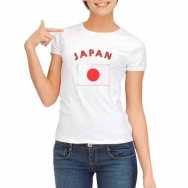 Japanse vlaggen t shirt dames