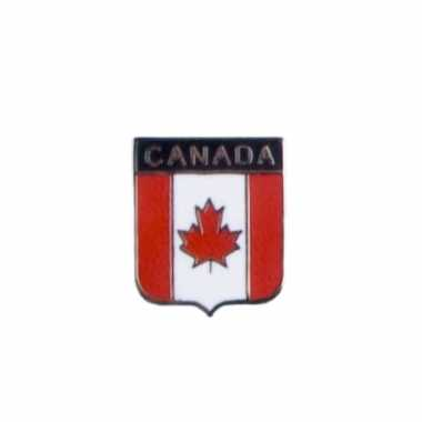 Kleine metalen canadese vlag pin