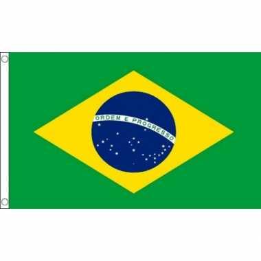 Kleine vlag brazilie 60 90