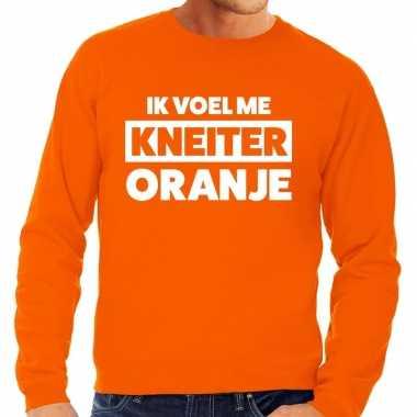 Kneiter oranje koningsdag sweater heren