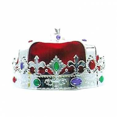 Konings kroon zilver gekleurd
