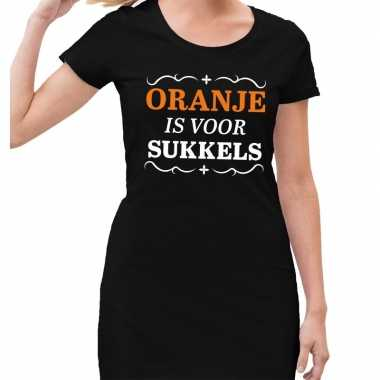 Koningsdag jurkjes zwart oranje is sukkels dames