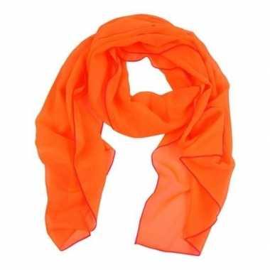 Koningsdag oranje sjaaltje/shawltje transparant dames