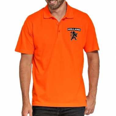 Koningsdag poloshirt holland leeuw oranje heren