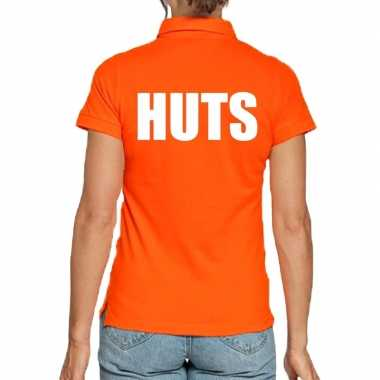 Koningsdag poloshirt huts oranje dames