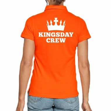 Koningsdag poloshirt kingsday crew dames