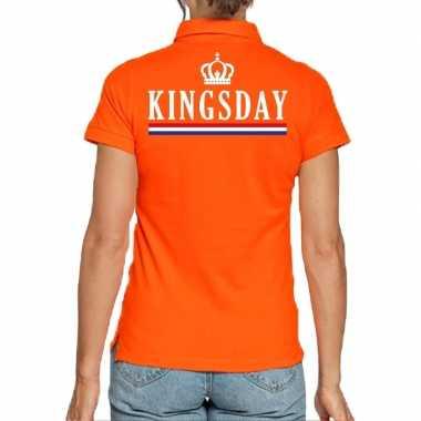 Koningsdag poloshirt kingsday oranje dames