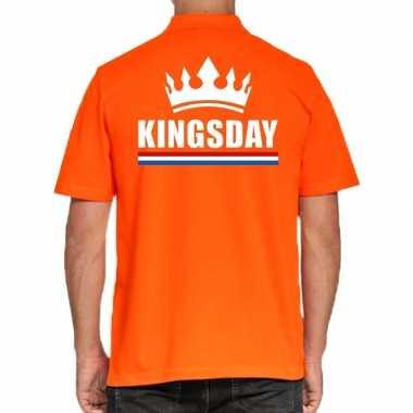 Koningsdag poloshirt kingsday oranje heren
