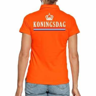 Koningsdag poloshirt oranje dames