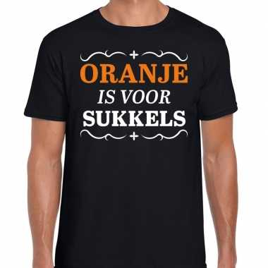 Koningsdag shirts zwart oranje is sukkels heren
