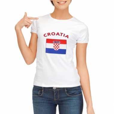 Kroatie vlaggen t shirt dames