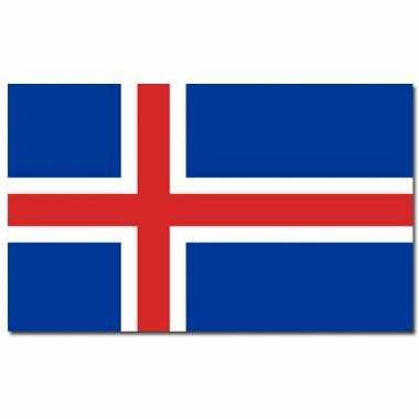 Landen vlag ijsland 90 150