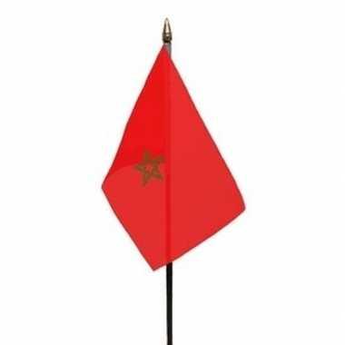 Marokko luxe zwaaivlaggetje polyester