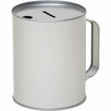 Metalen inzamelings/collecte bus/box 13 zilver