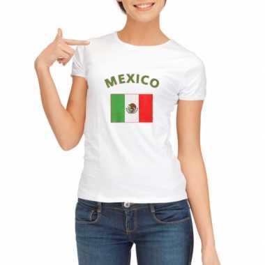 Mexicaanse vlaggen t shirt dames