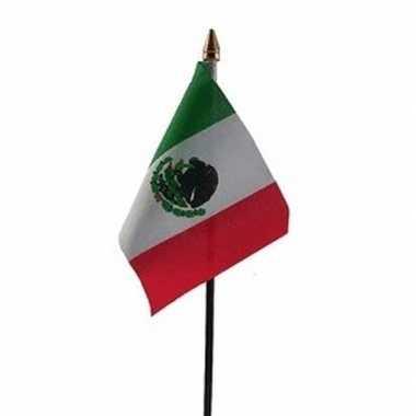 Mexico luxe zwaaivlaggetje polyester