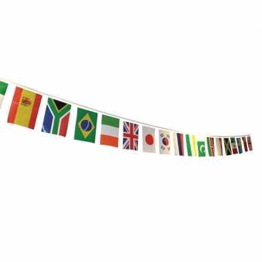 Multi nationale vlaggenlijn