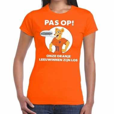 Nederland supporter t shirt leeuwinnen zijn los oranje dames