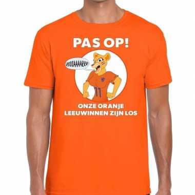 Nederland supporter t shirt leeuwinnen zijn los oranje heren