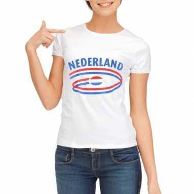 Nederland vlaggen t shirts dames
