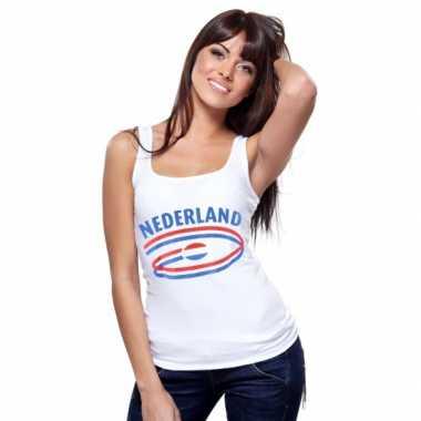 Nederland vlaggen tanktop dames
