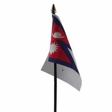 Nepal luxe zwaaivlaggetje polyester