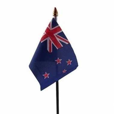 Nieuw zeeland luxe zwaaivlaggetje polyester