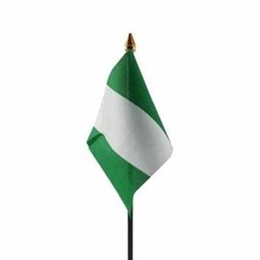 Nigeria luxe zwaaivlaggetje polyester
