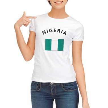 Nigeriaanse vlaggen t shirt dames