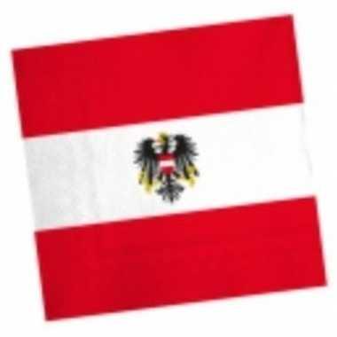Oostenrijkse vlag servetten 20 stuks