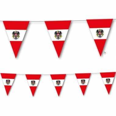 Oostenrijkse vlag slingers 3,5 meter