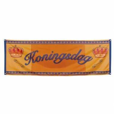 Oranje banner koningsdag