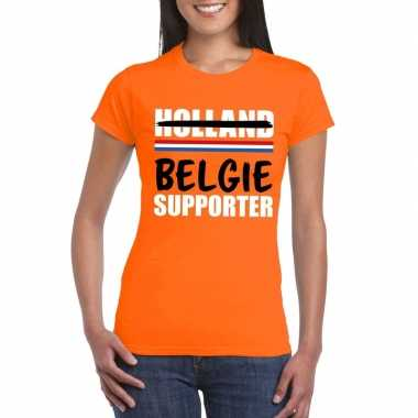 Oranje belgie shirt teleurgestelde holland supporters dames
