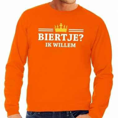 Oranje biertje ik willem sweater heren