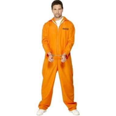 Oranje carnavalskleding boef heren
