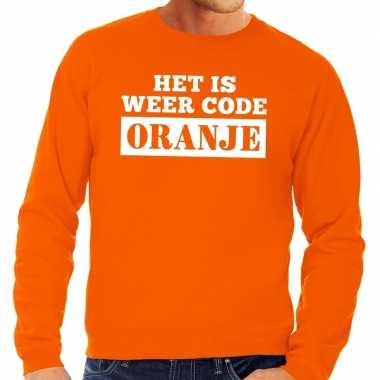 Oranje code oranje sweater heren