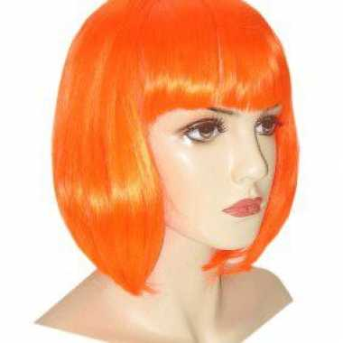 Oranje damespruik bob