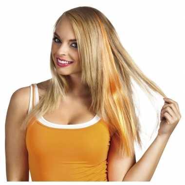 Oranje haar extensie dames
