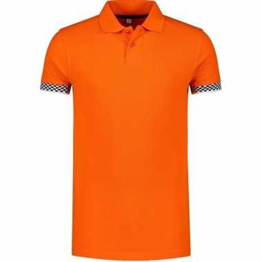 Oranje holland/nederland racing poloshirt heren