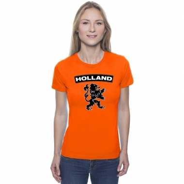 Oranje holland shirt zwarte leeuw dames