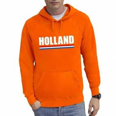 Oranje holland supporter sweater capuchon heren