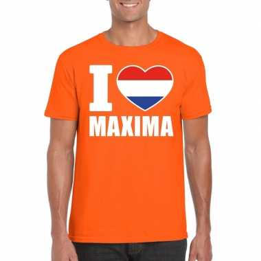 Oranje i love maxima shirt heren