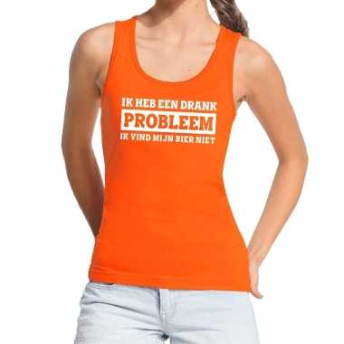 Oranje ik heb een drankprobleem tanktop / mouwloos shirt da