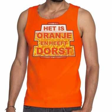 Oranje is oranje heeft dorst tanktop/mouwloos shirt heren