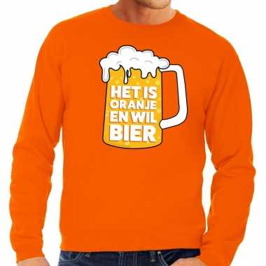 Oranje is oranje wil bier sweater heren