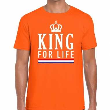 Oranje king for life t shirt heren