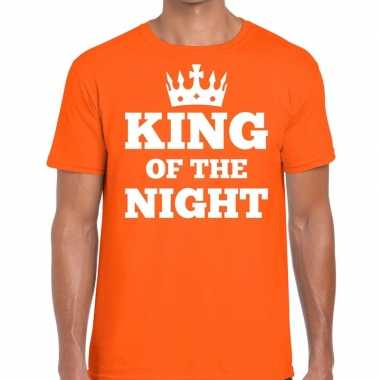 Oranje king of the night t shirt heren