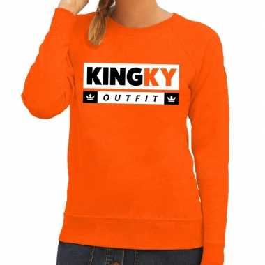Oranje kingky outfit sweater dames